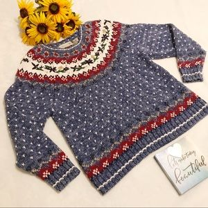 Northern Isles cotton blend retro sweater